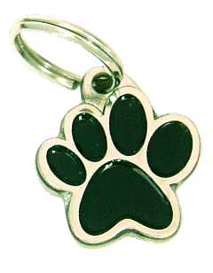 PAW MJAVHOV BLACK - pet ID tag, dog ID tags, pet tags, personalized pet tags MjavHov - engraved pet tags online